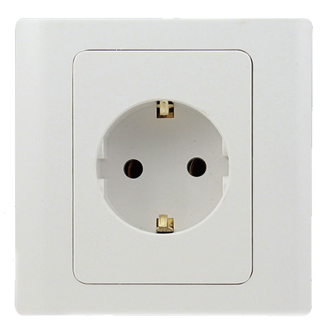 New Brand EU Standard Power Socket White Crystal Glass Panel AC 110~250V 16A Wall Power Socket