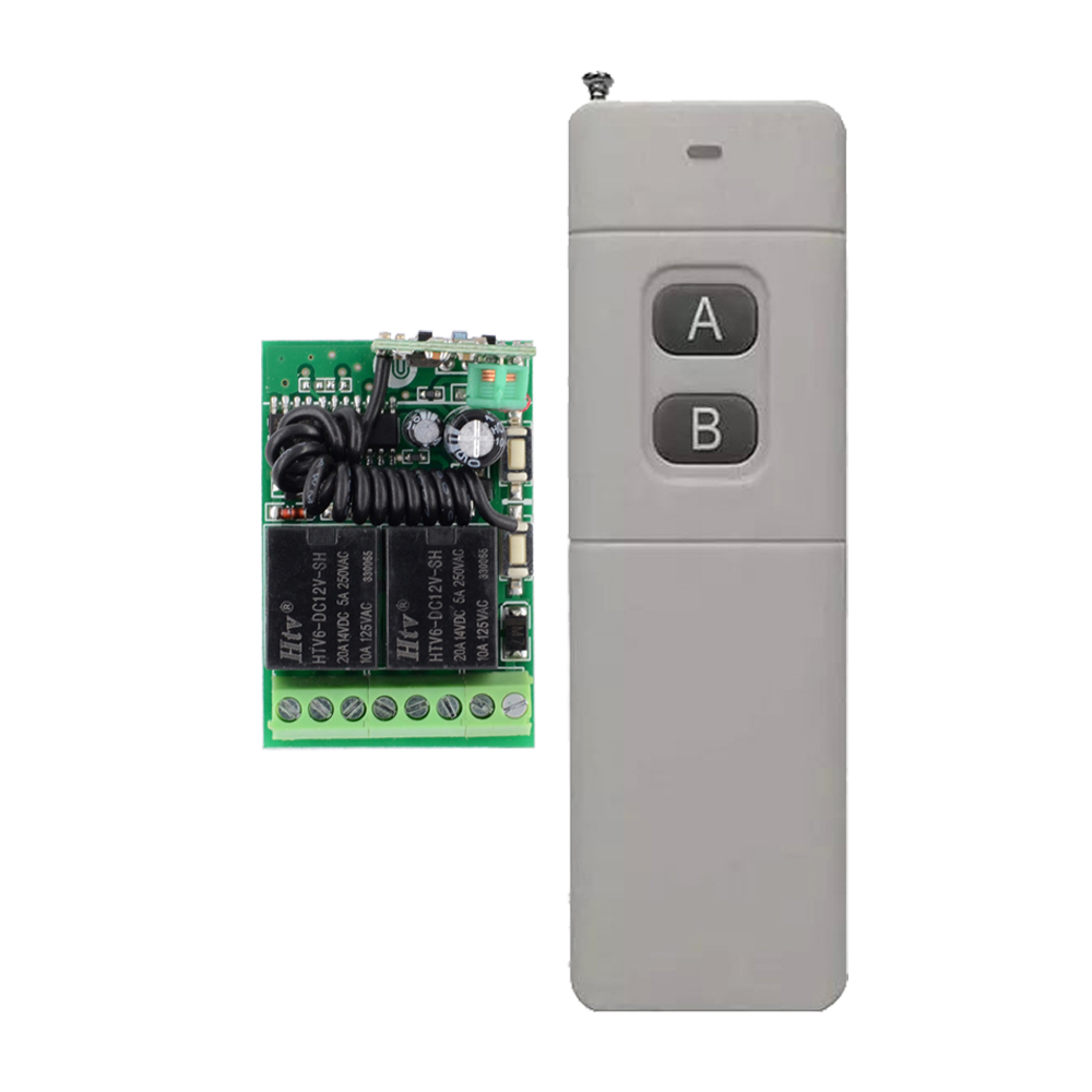 1000M-3000M Transmitter 12V 2 CH 10A Mini Receiver Wireless Remote Control Switch 315mhz/433mhz Long Distance System