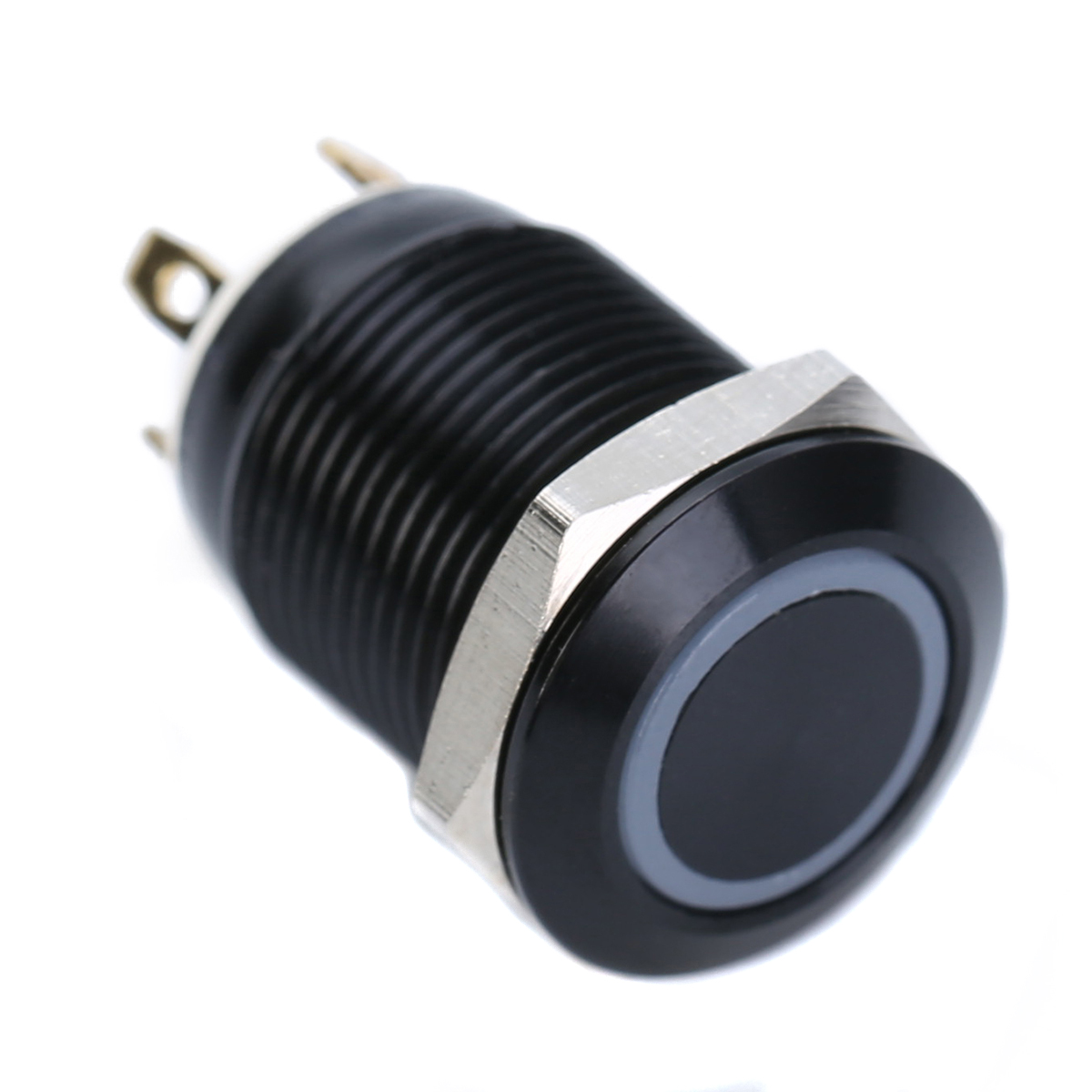 1pc Waterproof Led Light Momentary Switch Durable Black 4 Pin 12mm ...