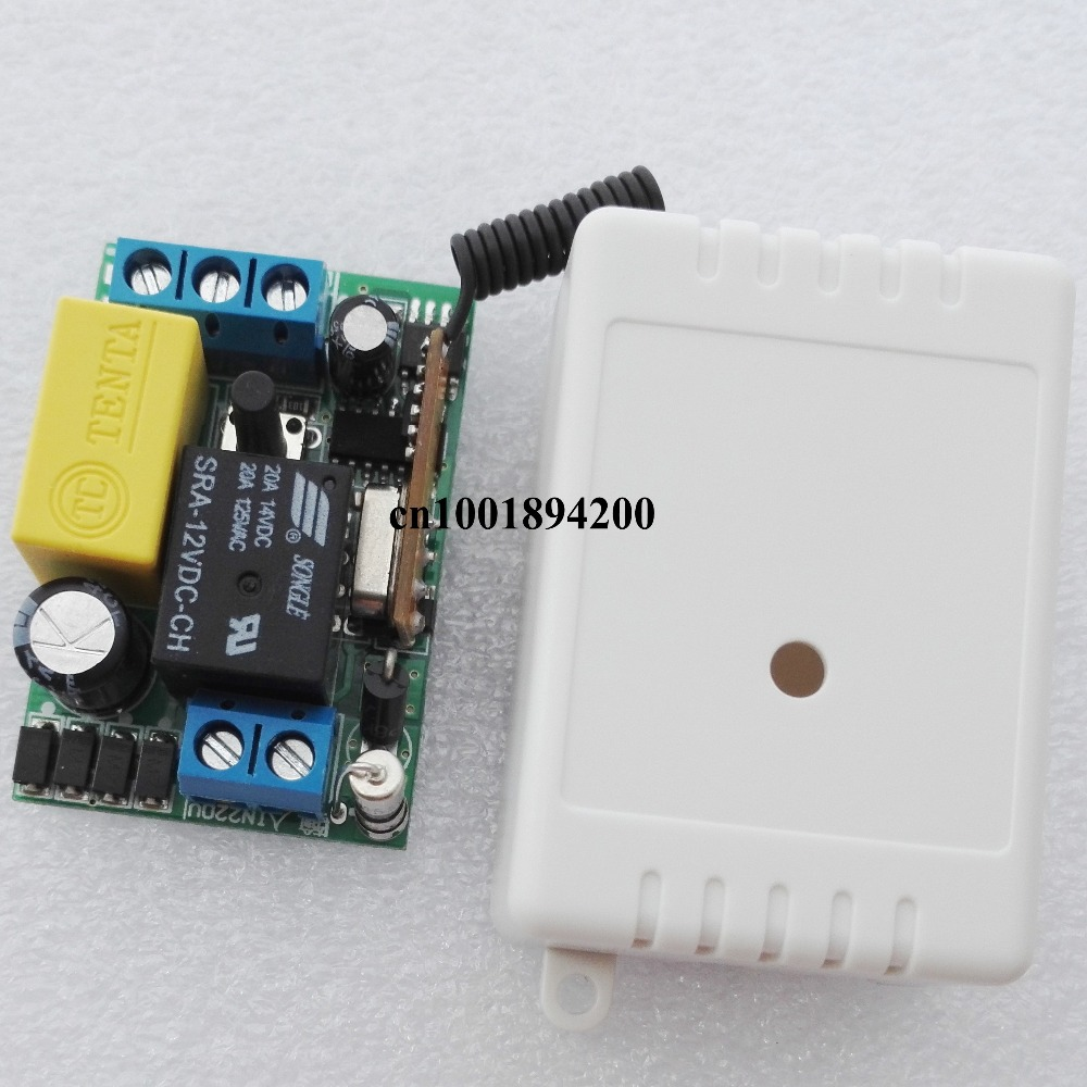 AC 220V 1 CH Relay Mini Receiver 10A Remote Switch Input AC220V Output AC220V Wireless Switch 315/433.92MHZ  Superheterodyne RX
