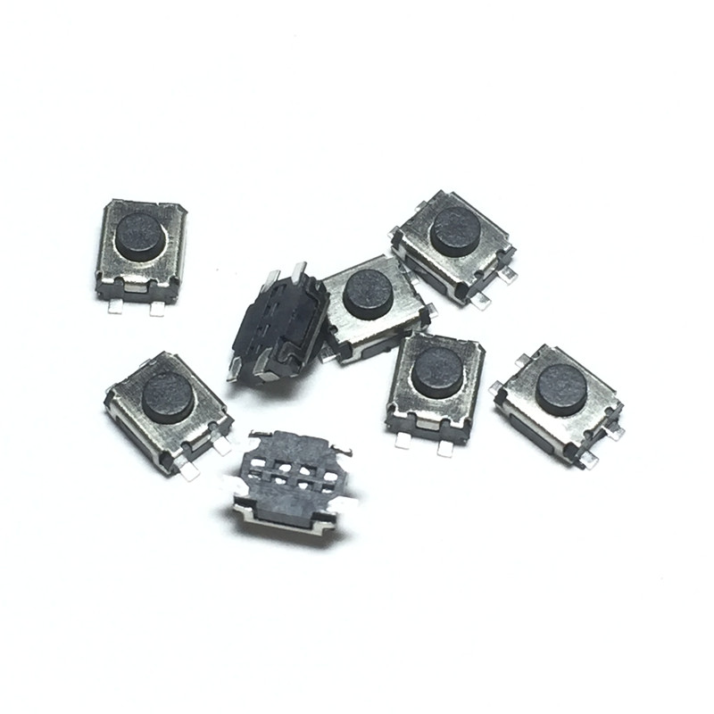 1000pcs/lot Micro button tact switch 4 pin SMD Little Turtle 3x4x2MM 3*4*2MM Double spring