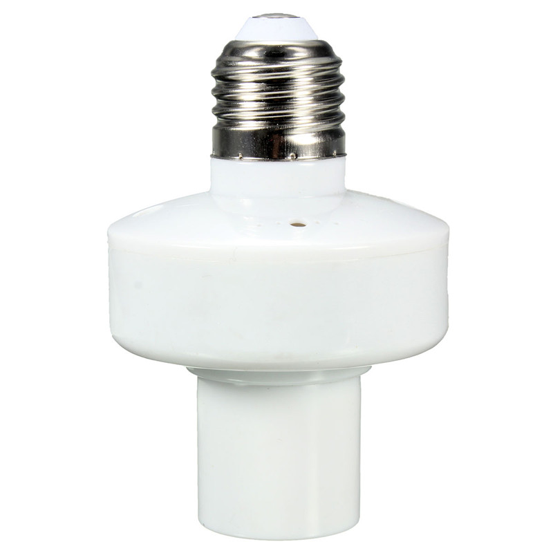 E27 Screw Wireless Remote Control Light Lamp Bulb Holder Cap Socket Switch 12A Remote Control Distance About 10M Favorable Price