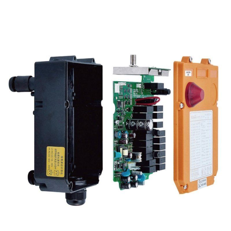 F24-6S Telecontrol 6 Buttons Industrial Wireless Radio Remote Control for Hoist Crane (1 Transmitter +1 Receiver)