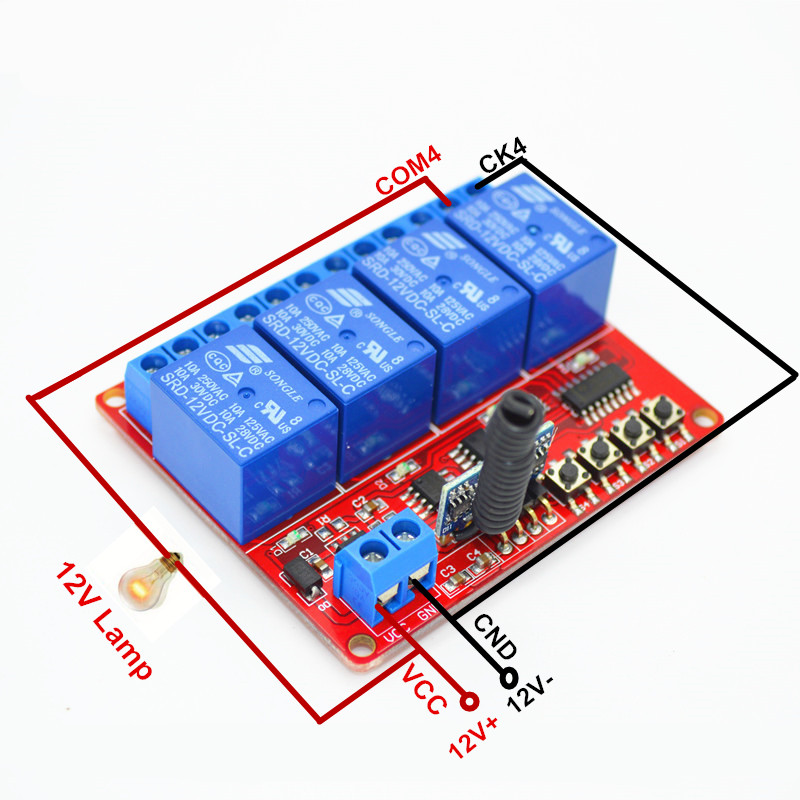 Manufacturer,Remote Control Light Switch DC 12V On Off Switch With RF 433.92 mhz Wireless Controller For Home Automation