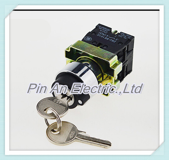 XB2 BG21 XB2-BG21 2 Position 1 NO Normally Open 1 N/O Locked Maintained Key Operated Selector Switch