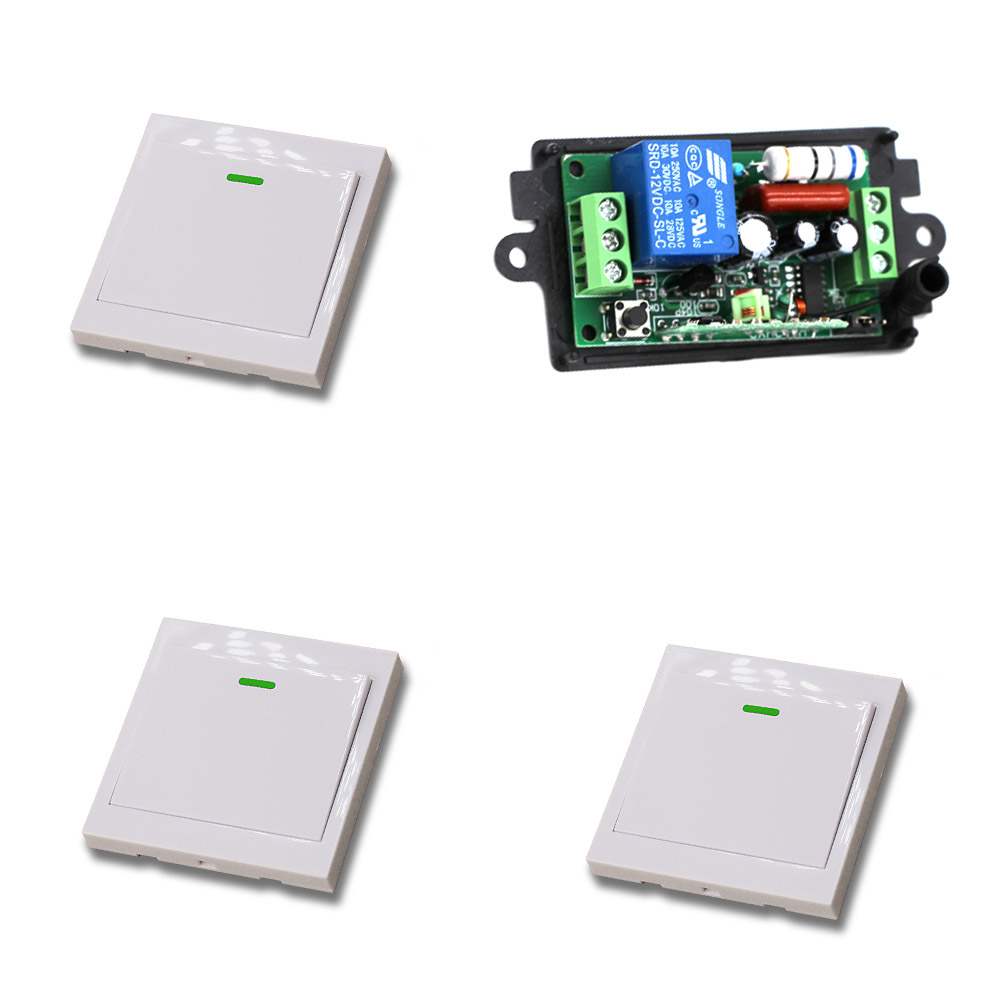 315Mhz Wireless Switch Remote Control Switch Radio Light Switch 110V/220V 10A Receiver Wall Transmitter Learning Code
