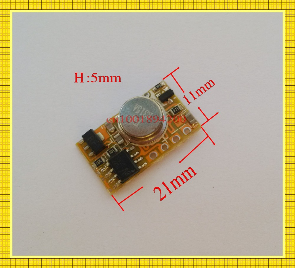 Small RF Transmitter Receiver 3V 4.2V 5V 6V 7.4V 9V12V Micro Remote Switch Input Power Transmitting Signal Remote TX RX PCB Mini