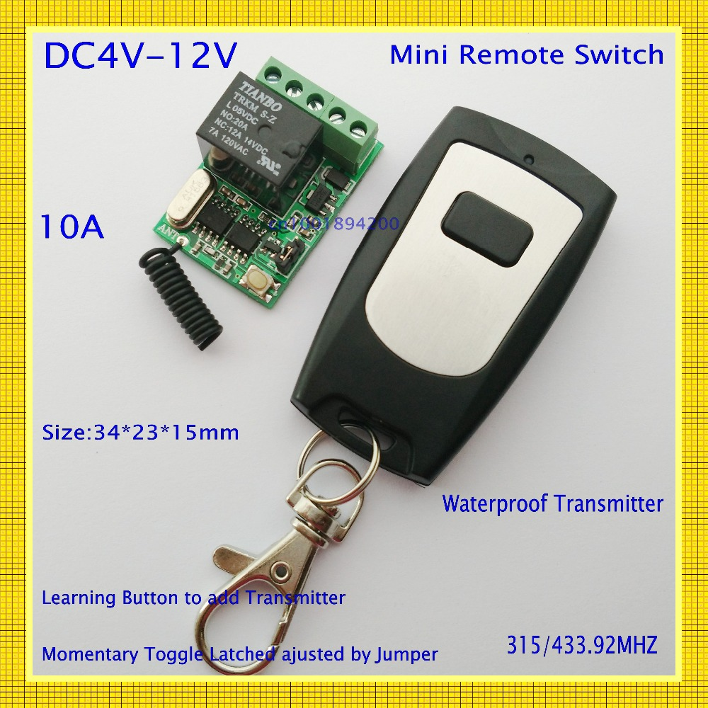 Computer Remote Switch Remote boot up Wirelss start up Relay Contact Button Switch USB DC 4V 5V 6V 7.4V 9V 12V RF Remote Control