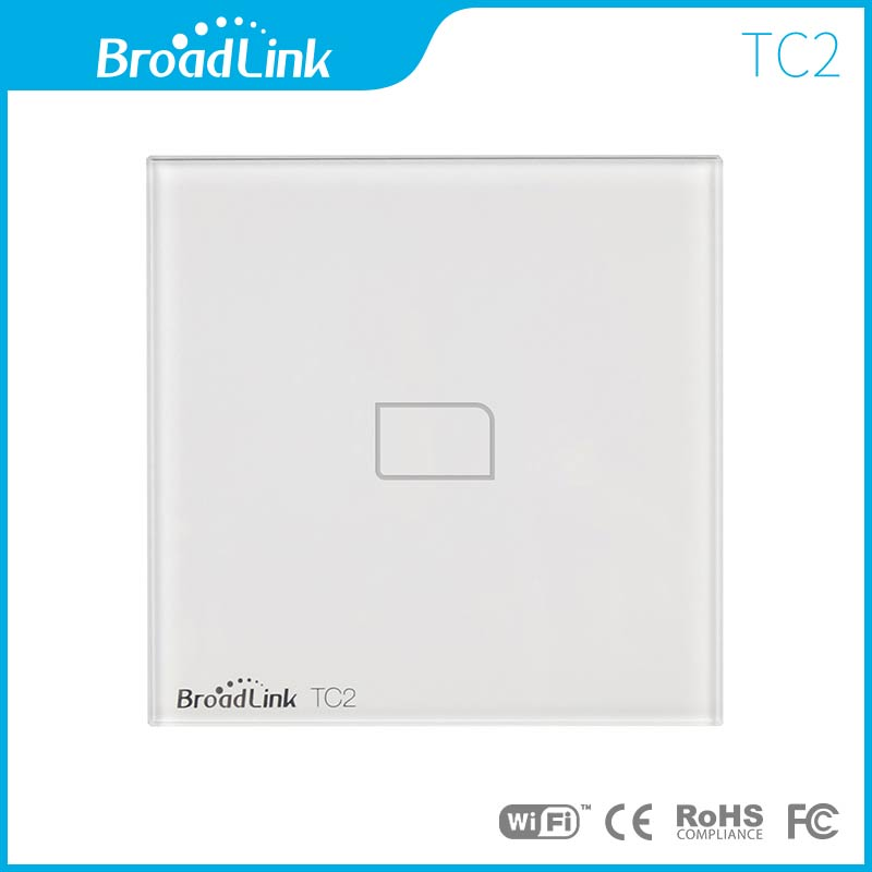 Broadlink EU Standard, Wireless Remote Control Light Wall Switch, Touch Wall Light Switch, 110V-240V Light Switch For Smart Home