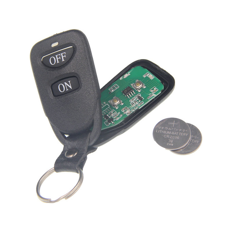Black Classical ON OFF 2 CH Channels 2CH RF Wireless Remote Transmitter Control,315/433.92 MHZ