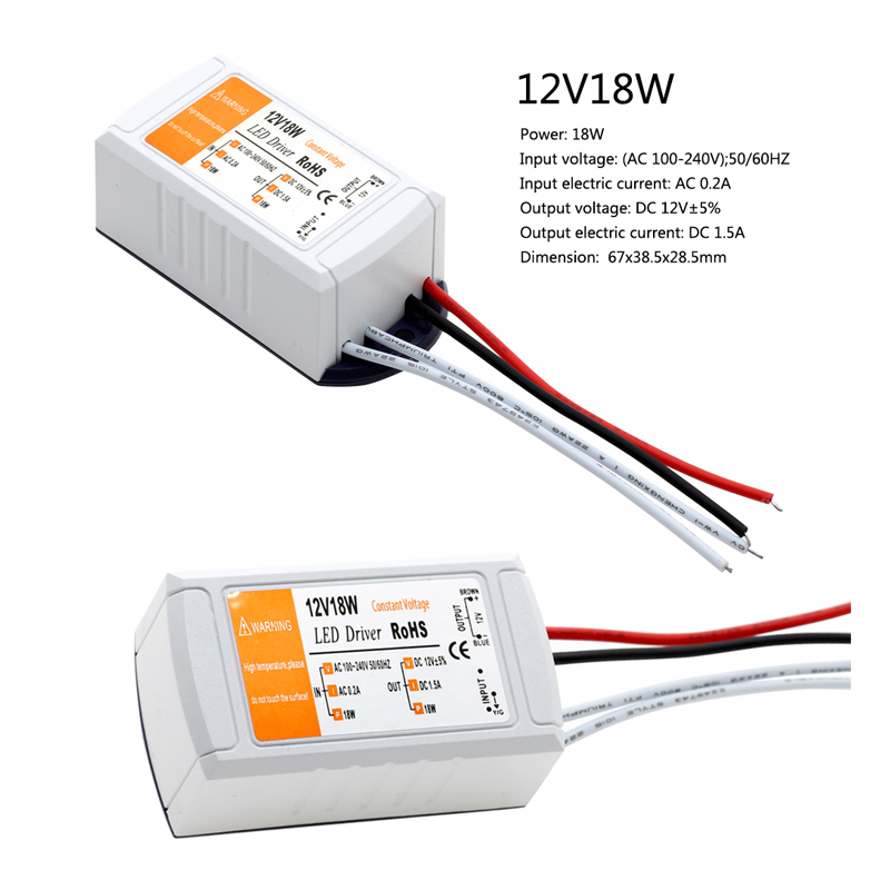 DC12V 18W 72W 100W LED Lighting Transformers High Quality Safy Driver for LED Strip Power Supply