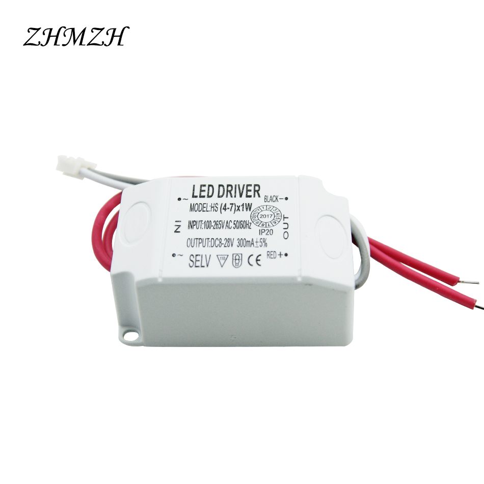 220V LED Constant Current Driver 1-3W 4-7W 7-12W 12-18W Power Supply Output 300mA External Drive For LED Downlights Spotlights