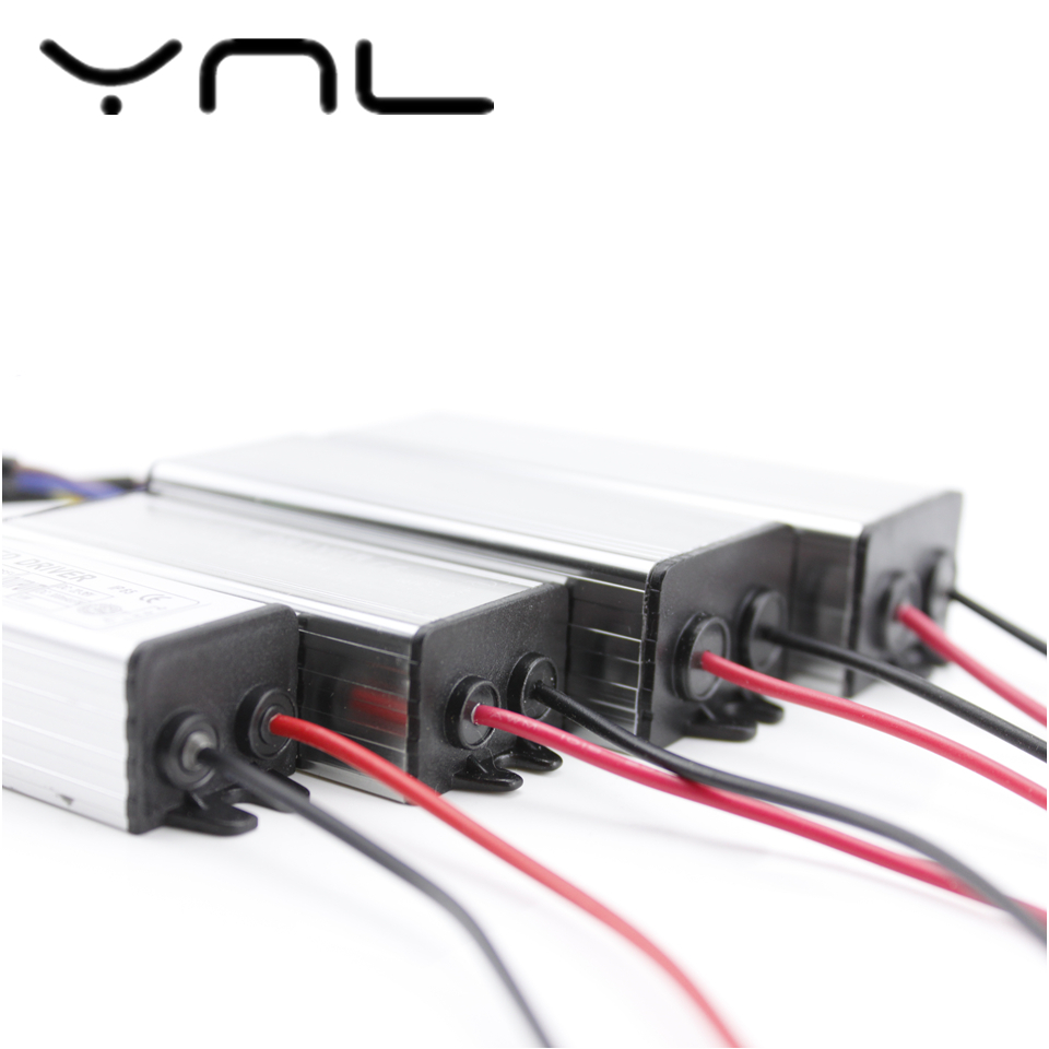 YNL Lighting Transformer 300mA 600mA 900mA 1500mA LED Driver Adapter 10W 20W 30W 50W 110V 220V Power Supply IP67 LED Floodlight