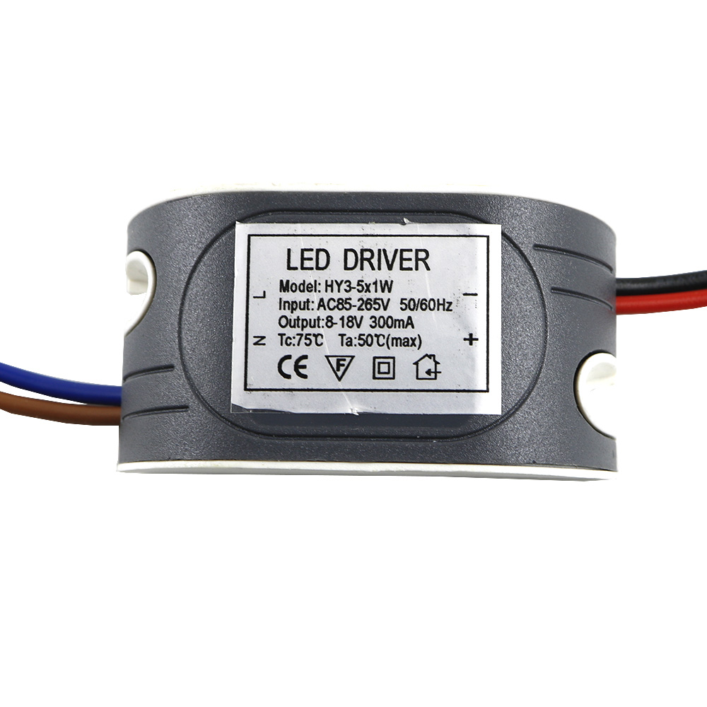 LED External Driver 300mA (3W-5W)x1W DC 8V ~ 18V Led Driver 3W 4W 5W Power Supply AC 110V 220V for LED lights Lamps Durable 1pcs
