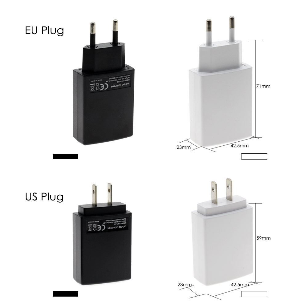 DC 5V USB Power Adapter EU Plug / US Plug Universal Charger
