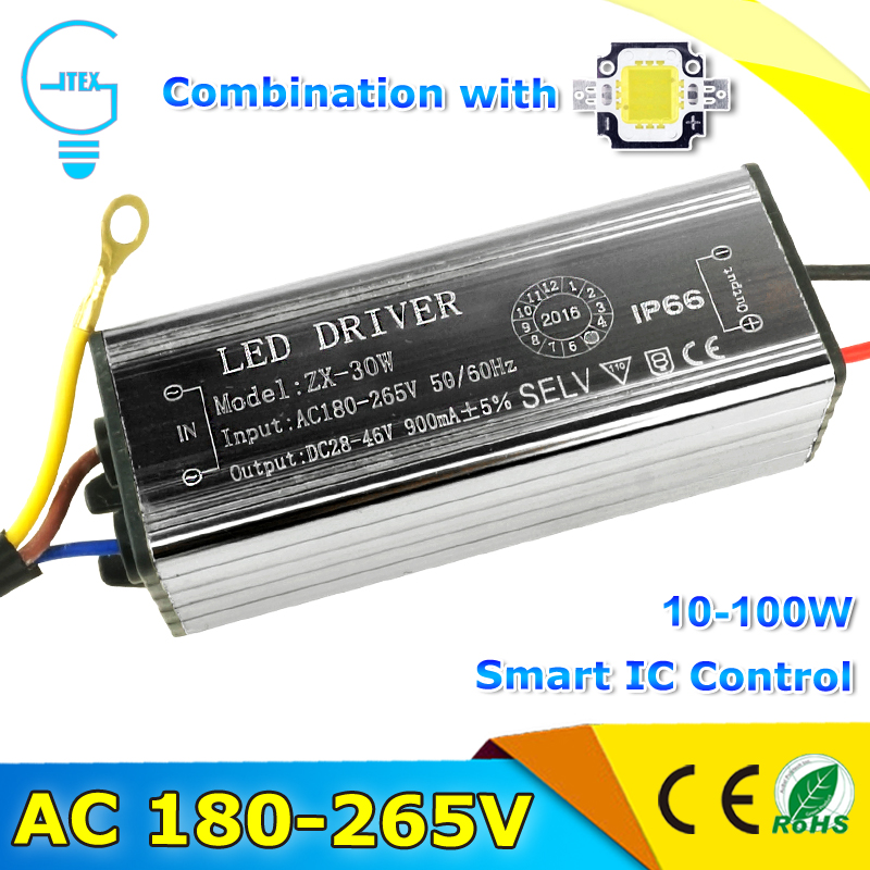 Waterproof LED Driver AC220V 10W 20W 30W 50W 70W Input AC180-265V LED Driver Adapter Transformer Power Supply IP66 For LED Flood