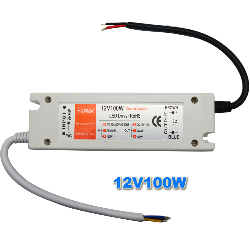 1pcs 12V 6.3A 72W Power Supply AC/DC Led Driver Adapter Transformer Switch for LED Strip RGB ceiling Light bulb