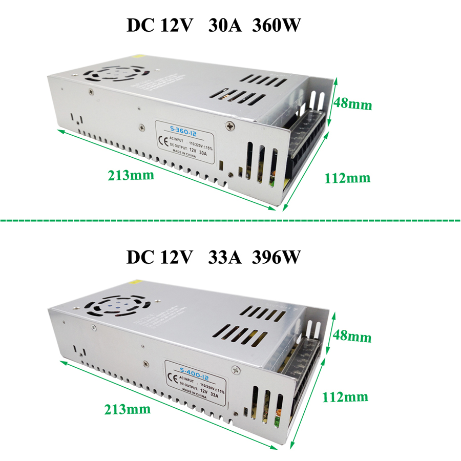 HBL AC110V-220V LED power supply DC12V 1.25A 2A 3A 5A 6.5A 10A 15A electronic lighting transformer power supply for led strip