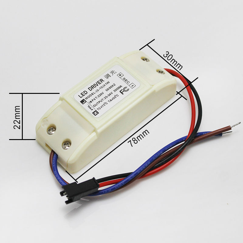 Dimmable LED Driver LED power supply 5-15w 300ma 15-54v output led bulb light downlight lamp spotlight driver
