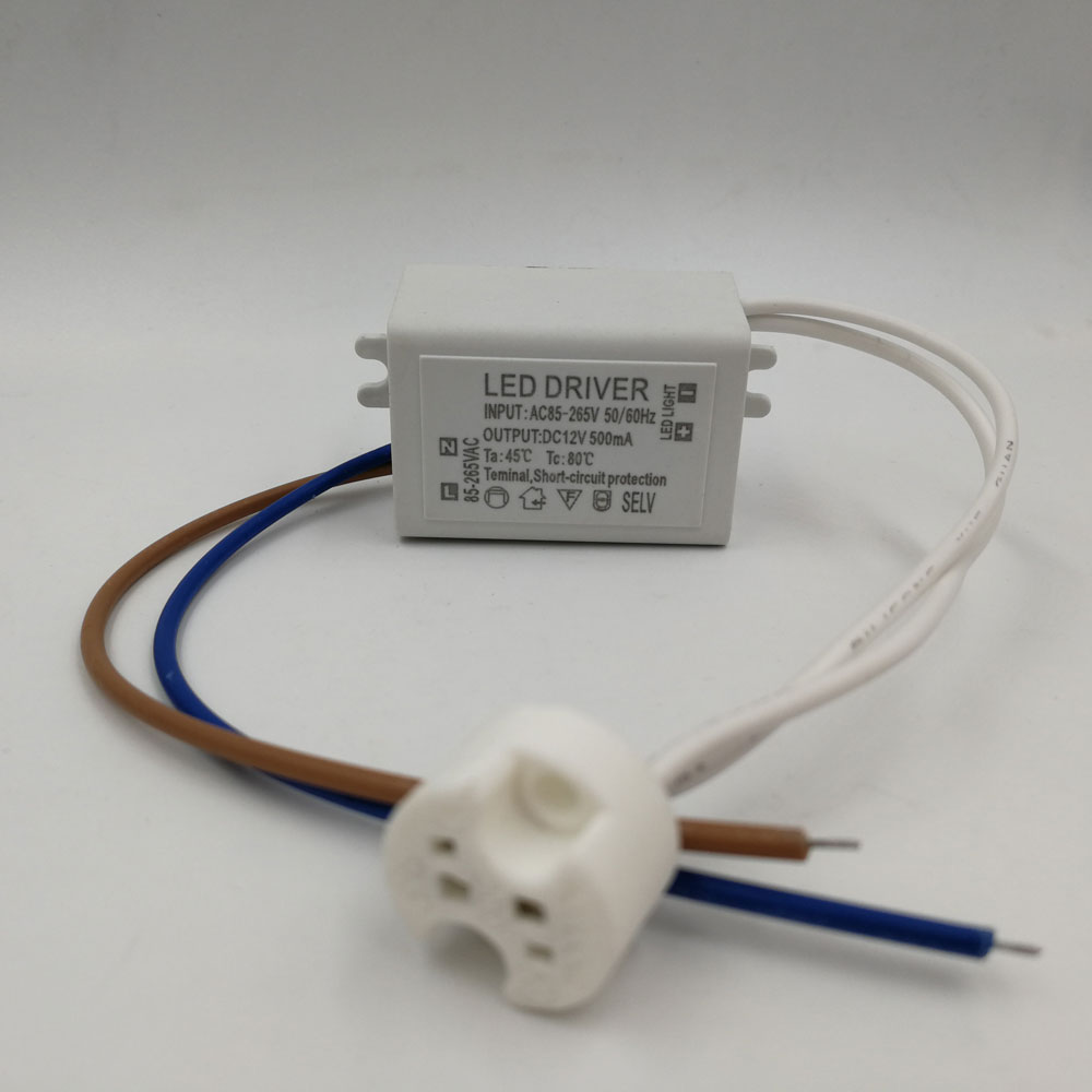New 6W 500mA 12V Transformers LED Driver with MR16 holder