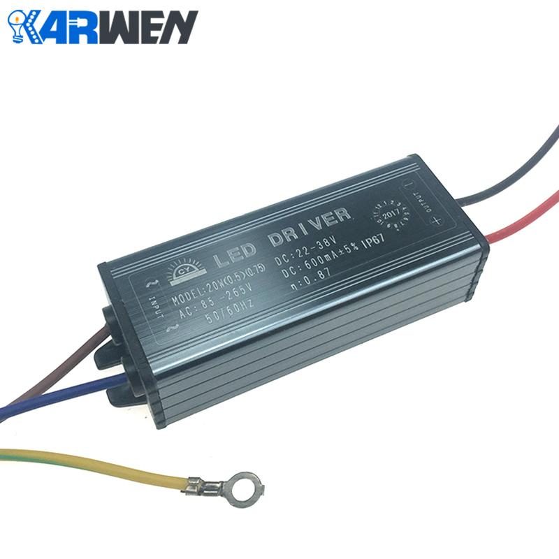 KARWEN LED Driver 10W 20W 30W 50W Adapter Transformer AC85V