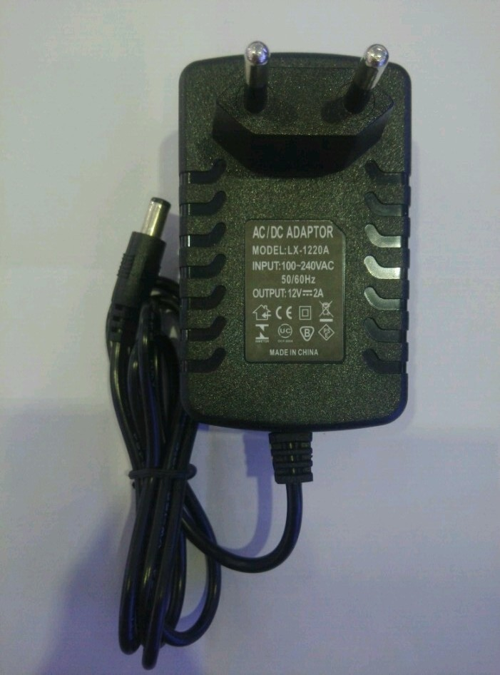 LX1202 12V2A AC 100V-240V Converter Adapter 5.5*2.1 DC 12V 2A 2000mA Power Supply EU Plug 5.5mm x 2.1-2.5mm for LED strip CCTV