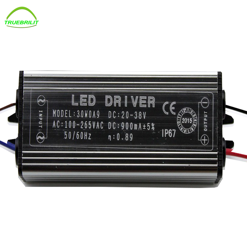 10W 20W 30W 50W LED Driver Adapter Transformer AC100V-265V to DC20-38V Switch Power Supply IP67 For Floodlight