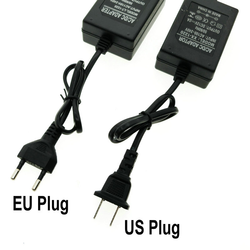12V Adapter AC100-240V Lighting Transformers OUT PUT DC12V 1A / 2A Power Supply with Plug Wire.