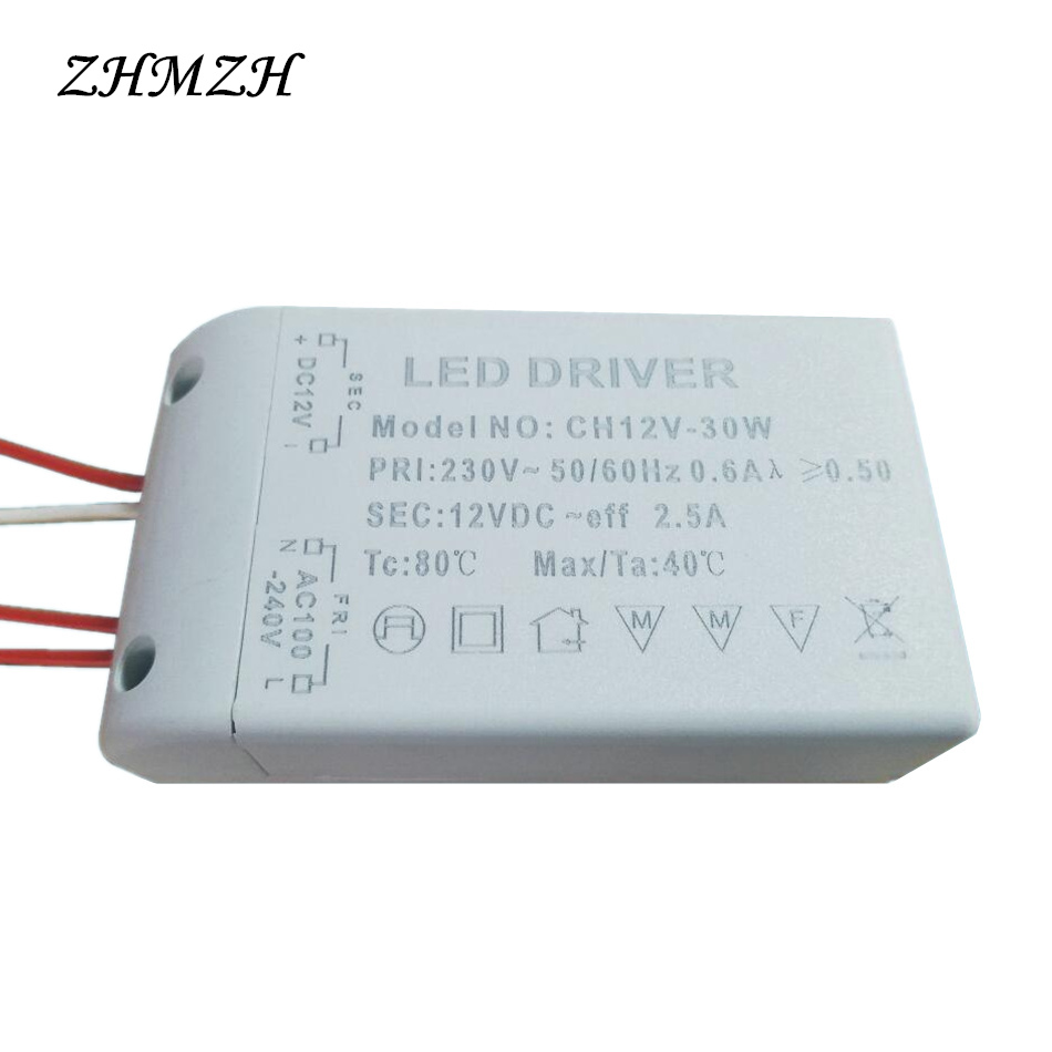 DC12V LED Driver 6W 12W 15W 20W 30W Constant Voltage Power Supply for G4 LED Beads LED Strip AC 220V Input Lighting Transformer