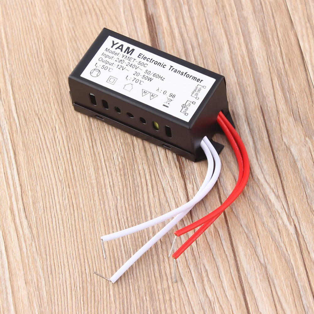 AC 220V to DC 12V LED driver Transformer power supply Halogen Lamp Electronic short-circuit protection Newest Dropshipping 2017