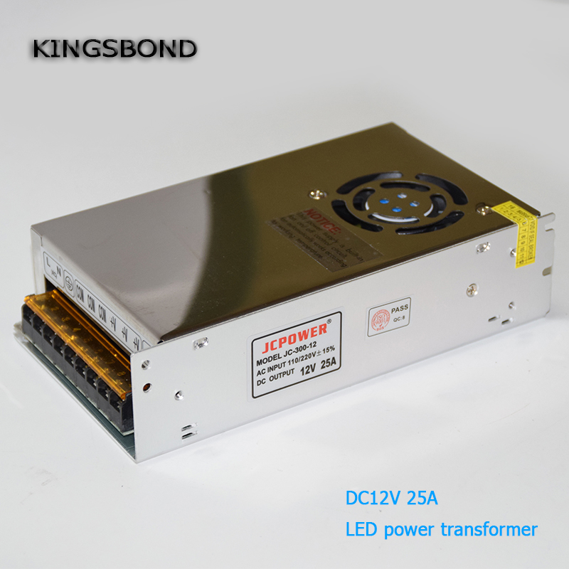 LED Driver Power Supply AC110-220V to 12V 15A 20A 25A with radiator fan LED Adapter  for  LED Strip light or CCTV