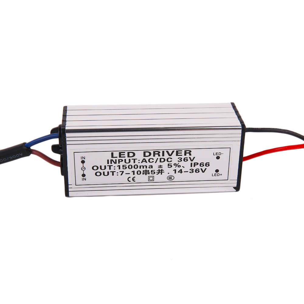 2016 Top Sale 50W AC/DC 36V Aluminum LED Electronic Transformer Power Supply Driver Low Voltage Waterproof Supply Silver