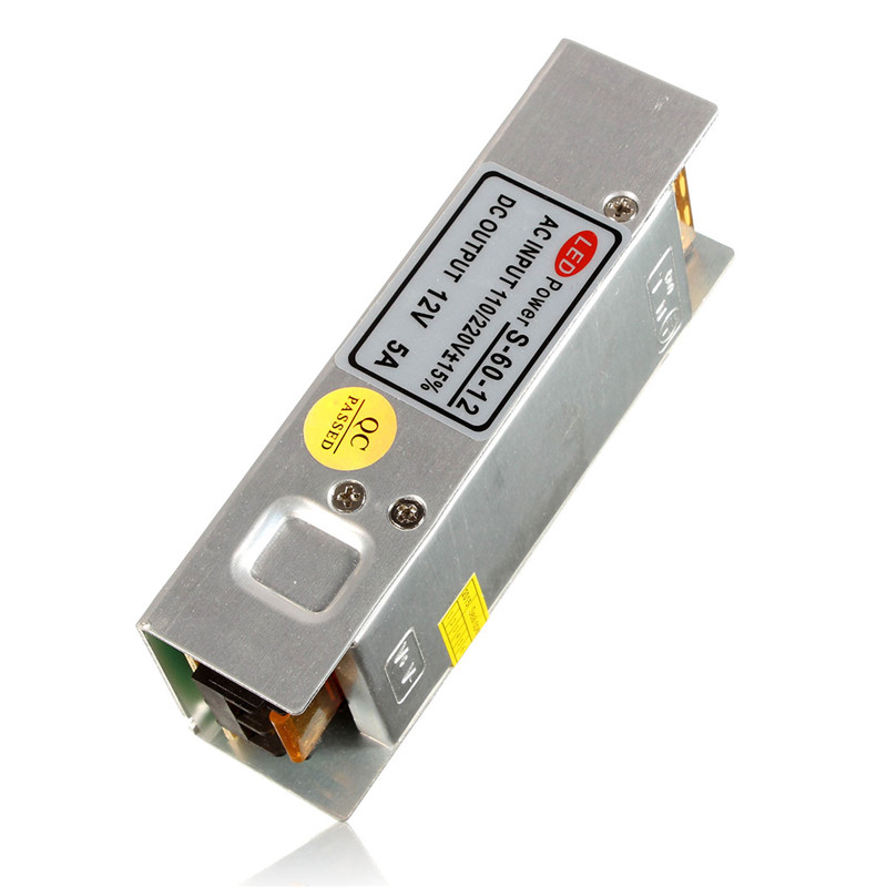12V 5A 60W Non Waterproof Lighting Transformers LED Driver Power Supply Switching Strip 3528 5050 Lighting Accessories