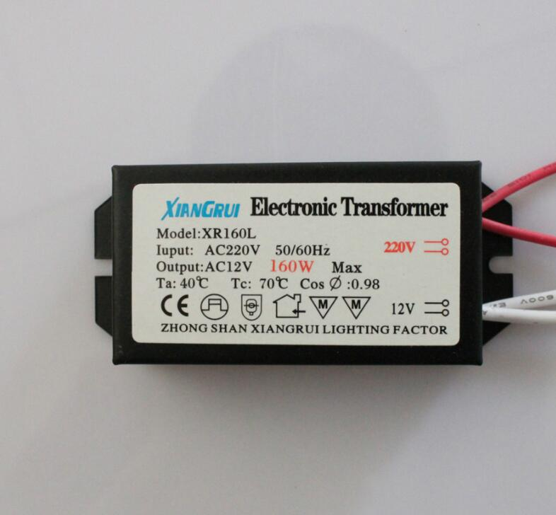 Electronic Transformer 60W 80W 105W 120W 160W 180W 200W 250W AC220V to 12V For Halogen lamp & Crystal Lamp G4 Light Beads