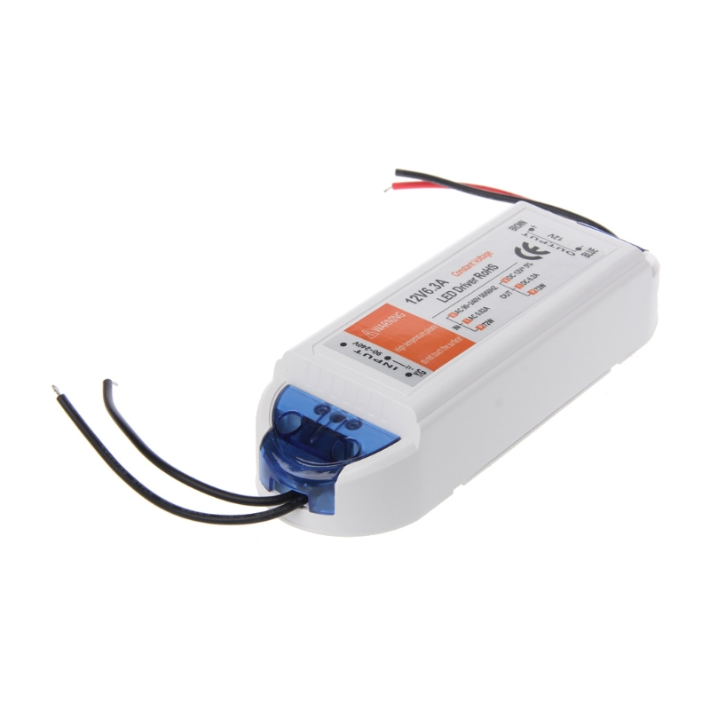 YAM 12V 6.2A 72W Power Supply AC/DC Adapter Transformer Switch Power Supply 90V-265V For LED Strip Light