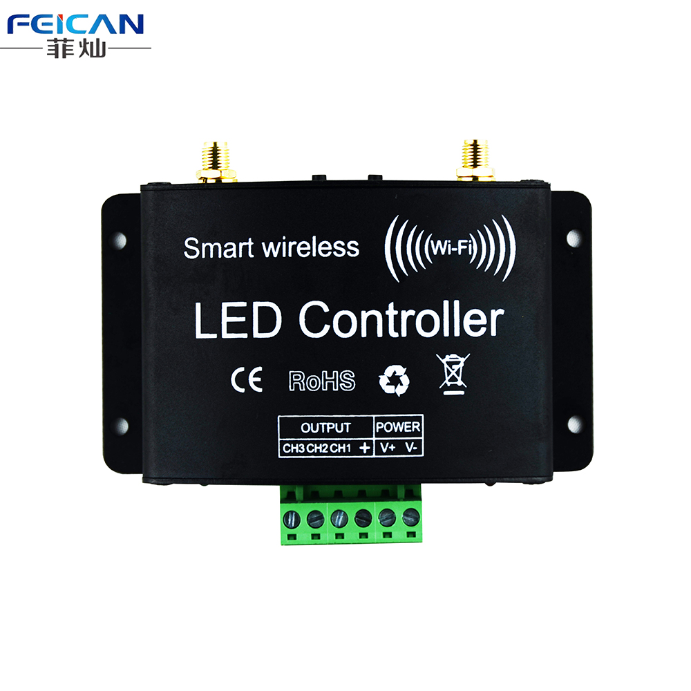 DC12-24V RGB Wifi LED Controller RF Touch Remote Control Controller