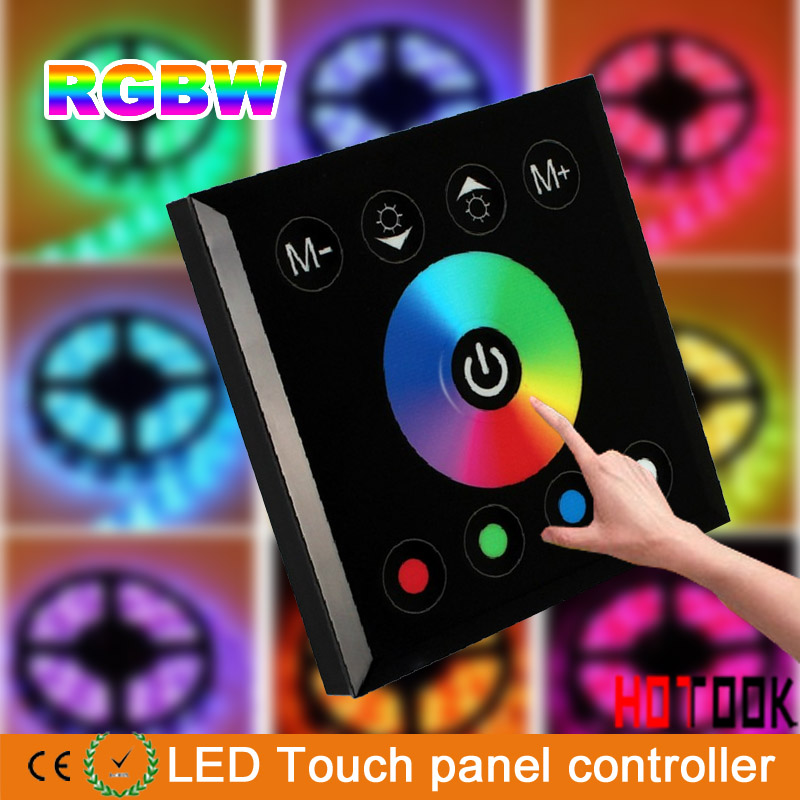 HOTOOK RGB RGBW LED Controller Touch Panel Wall Mounted Color Changable Switch For DC12-24V LED Strip Light Home lamp Lighting