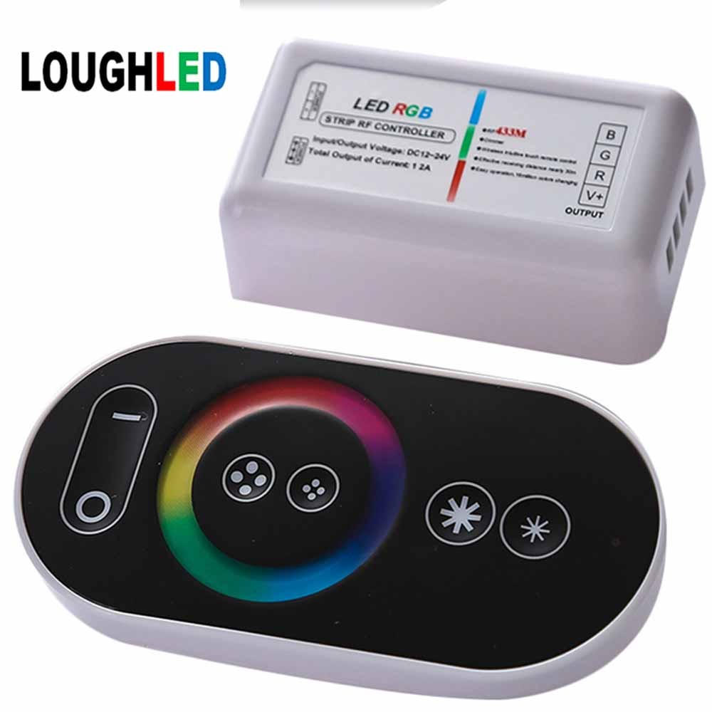 Wireless RF Touch RGB LED Controller by remote 144W 12A RGB LED Controller for LED Strip, LED Module 2 years guarantee