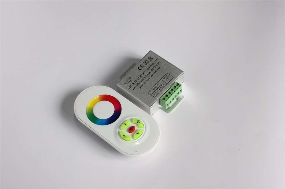 RGB LED Controller,DC12,24V 5 Keys Aluminum shell RF Touch RGB controller for led strip 5050 3528 rgb wall lights