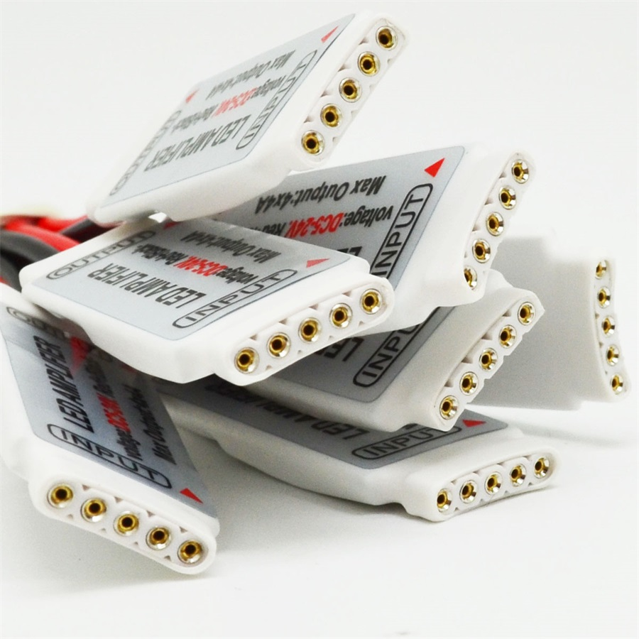 5pcs Mini RGB/RGBW Led Amplifier Controller DC5-24V Common anode Control for 5050 RGB/RGBW Led Strip