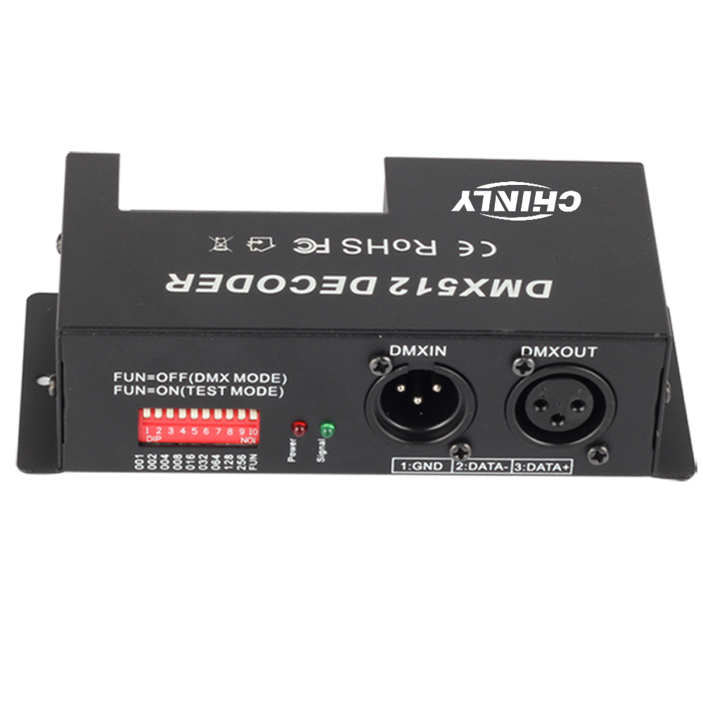 3 Channel 30A RGB DMX 512 LED Decoder Controller DMX dimmer use for DC12-24V RGB LED strip