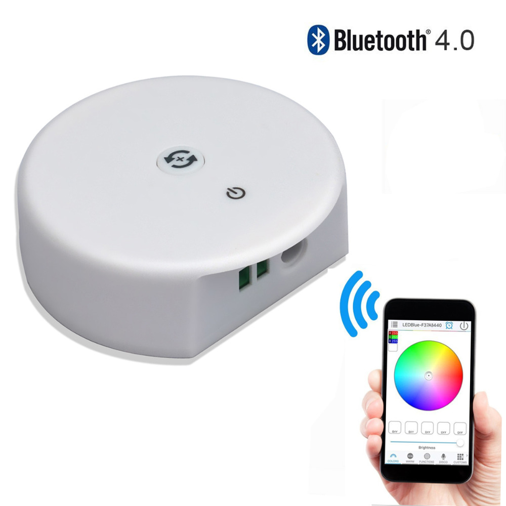 DC12-24V RGB RGBW Bluetooth LED Controller,Timing Function, Group Control, Music Mode, apply to IOS/Android