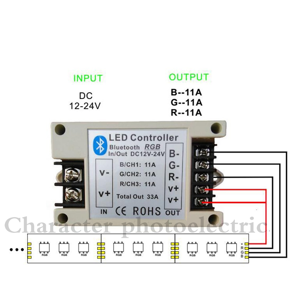 5PCS New DC 12V 24V 33A 42A ios/android Smartphone Bluetooth RGB RGBW led Controller BT Wireless Led Strip