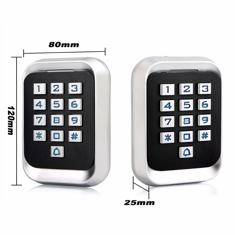 Metal RFID ID Keypad Single Door Stand-alone Access Control
