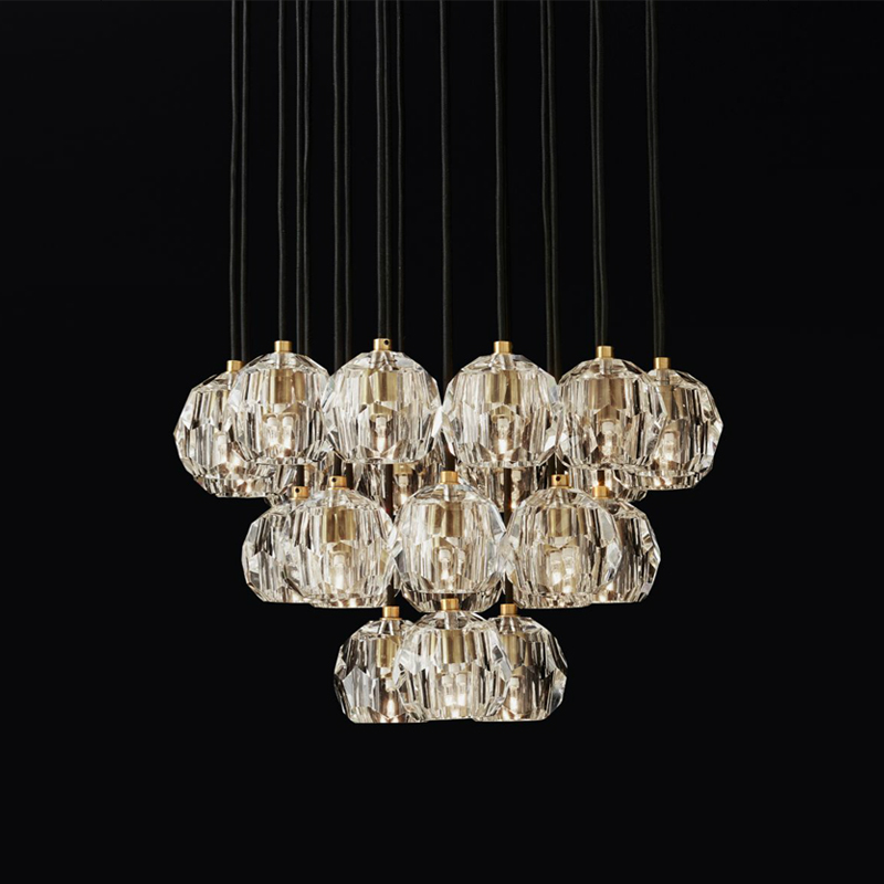 Livewin Gold Crystal Chandelier K9 Luxurious Lustre Led Chandelier Lighting 10-22 Lamps Copper Pendant Dining Room Hotel Parlor