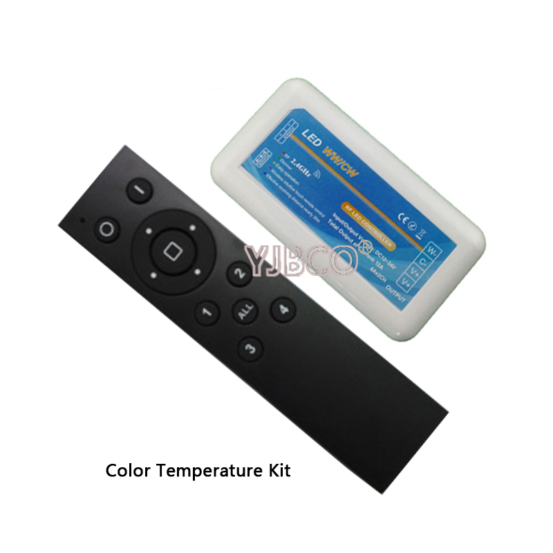 2.4G Dimmer Group Remote CT/RGB/RGBW LED Remote Controller RF Remote Dimmer for 5050 3528 5630 RGB LED Strip Light