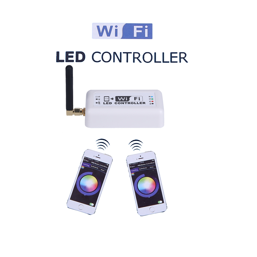 Control by Android IOS 370 WIFI Led Dimmer Controller for Apple Samsung Ipad on dormitory laptop home intelligence playing games
