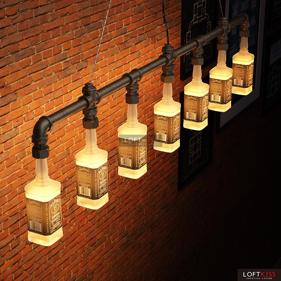 Jack Daniels Bottle Chandelier Lighting Water