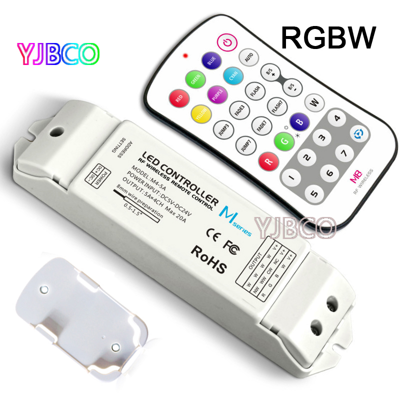 ltech Wireless RF M1 M2 M3 M4 M5 M6 M7 M8 single color CT RGB Remote M4-5A CV Constant Voltage Receiver LED dimmer controller