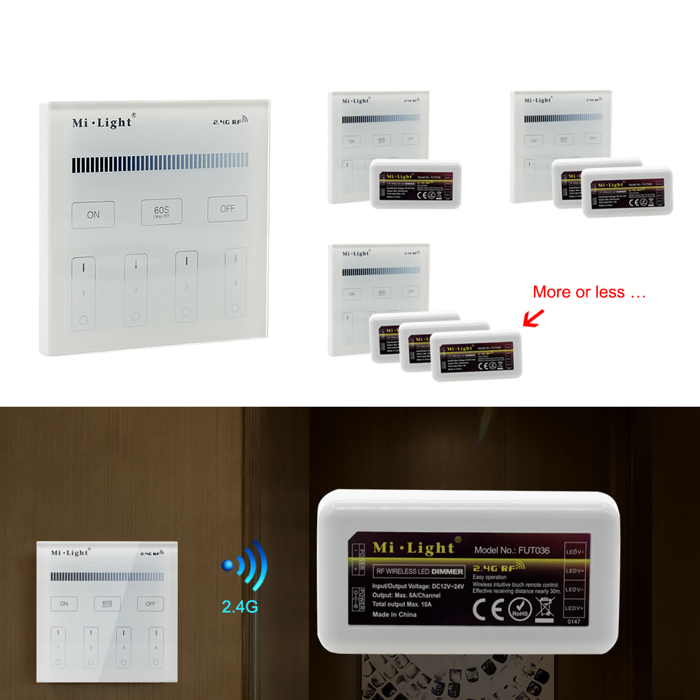 Mi.Light Remote Control Dimmer DC12-24V Brightness adjustment for LED Strip